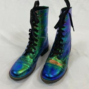 Dolls Kill Mermaid Tears Combat Boots